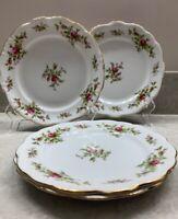 "Johann Haviland Moss Rose Garland Bavaria Germany 9"" Salad plates, Lot Of 4"