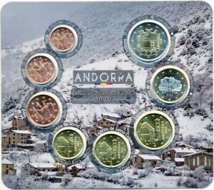 Andorra Euro-KMS 2020 BU/Stempelglanz, 1 Cent - 2 € Satz 8 Münzen komplett