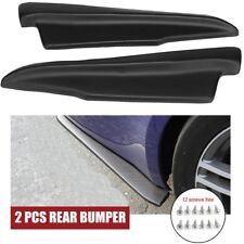 2xUniversal Rear Bumper Splitters Spats Splash Guard Extend Valance Lip Diffuser