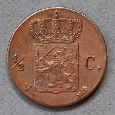 Netherlands. 1/2 Cent, 1850. Scarce.