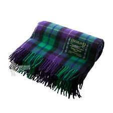 SCOTTISH 100% WOOL TARTAN RUG / BLANKET / THROW - FREEDOM