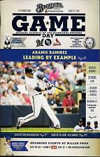 ARAMIS RAMIREZ COVER MILWAUKEE BREWERS 2014 OFFICIAL GAMEDAY PROGRAM ISSUE #23