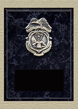 """US Army Military Police 5"""" x 7"""" Full Size Insignia Plaque"""