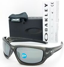 1d44f8f374f NEW Oakley Valve sunglasses Grey Black Iridium Polarized 9236-06 AUTHENTIC  9236