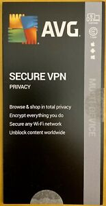 AVG Secure VPN 2020, 5 Devices 1 Year [Key Card] Brand New and sealed