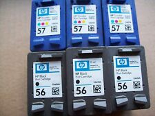 6 x Genuine Full  HP56 and HP57 Ink Cartridges (3 x Black & 3 x Colour)