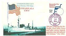 USS OGLALA CM-4 Minelayer: Pearl Harbor 1941 Ship Photo Cacheted Naval Cover