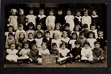 Liverpool - Butler Street School Group, Kensington - real photographic postcard