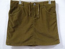 Athleta Corduroy Skirt Kaleidoscope Cord in Old Gold Women's Size 16