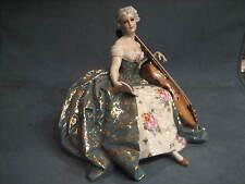 "Porzellan "" FABRIS"" Fantastische Dame al Violoncello"
