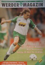 Programm 1995/96 SV Werder Bremen - Bayer Leverkusen