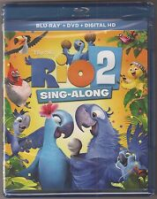 Rio 2 Blu-ray + DVD + Digital HD 2-Disc Movie + Sing-Along BRAND NEW