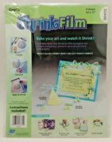 """Graphix Shrink Film - White - (6) 8.5x11"""" Sheets - New in Open Package"""