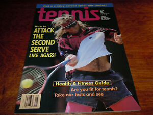 """VINTAGE MAY 1992 """" TENNIS """" MAGAZINE - ANDRE AGASSI COVER"""