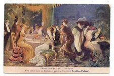 EXPOSITION DE BRUXELLES 1910.RESTAURANT PARISIEN.FOURRURES REVILLON FRÈRES.