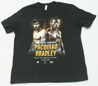Canvas Black Graphic Tee T-Shirt Top XL X-Large Short Sleeve Pacquiao Bradley
