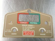POLICE DECATUR RADAR DECAL, HHM HUNTER HANDHELD MOVING RADAR FACE PLATE DECAL