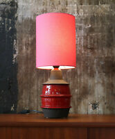 70er Tischlampe Keramik Danish Midcentury 70s Table Lamp Vintage 60er 60s