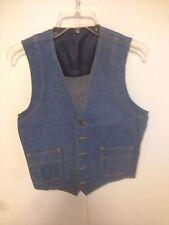 Vintage Separate-Lees by Lee Men's BLUE  Denim Vest size 38R