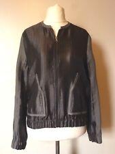 NEXT Tailoring Matte & Shine Bomber Jacket Size 12 Uk BNWT RRP £61.99 Grey