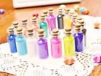 50Pcs 0.5ml Mini Clear Glass Bottle Vials Empty Sample Jars with Cork Stopper Me