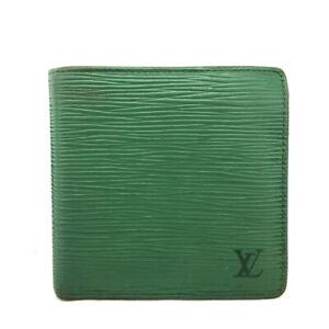 Louis Vuitton Epi Portefeuille Marco Green Leather Bifold Wallet /E0792