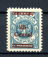 Memelgebiet MiNr. 221 I postfrisch MNH Fotoattest Huylmans (XXX