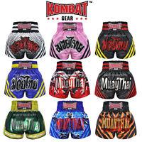 Kombat Muay Thai Kick Boxing Shorts KS7 Satin Black Blue Pink White Training