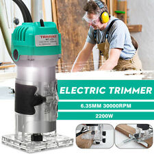 1/4'' 2200W Electric Router Hand Trimmer Laminate Wood Palm Jointer