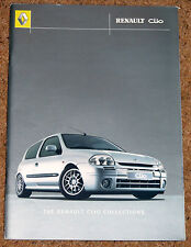 2000 RENAULT CLIO COLLECTIONS Brochure inc 172 RSi Sport Liberte MTV Initiale