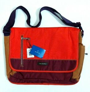 NWT Vera Bradley Lighten Up Laptop Messenger RFID Bag in Hot Lava