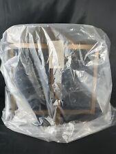 "Project 62 Bronze legged Ottoman **BRAND NEW w/tag 18"" velvet grey plush topper"