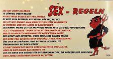 "Brettchen Holz Wandhänger ""Sex - Regeln"" Sexy Gag Party"