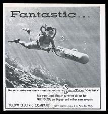 1961 Sea Tow Guppy scuba diving diver propulsion photo vintage print ad