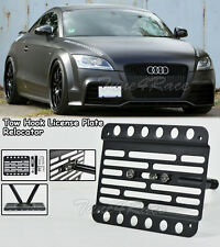 For 08-14 Audi TT MK2 Front Bumper Tow Hook License Plate Bracket Relocator 8J