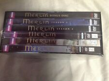 Merlin The Complete Series 1-5 season 1 2 3 4 5 W/ Bonus Features (DVD) NEW!