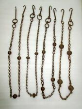 1850's Antique Old Rare Hand Carved Long Solid Heavy Iron 4 Swing Hanging Chain