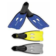 Osprey Full Foot Dive Fins For Scuba Diving Swimming Flippers Blue Grey Yellow