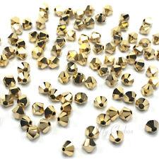 144 Swarovski 5328 XILION Bicone Bead 1 gross 4mm gold CRYSTAL AURUM 2X 001 AUR2