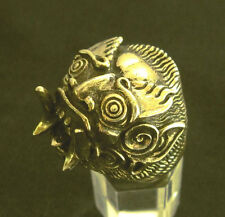 Bronze Balinese Devil Mask Biker Ring Custom Size Mythology Talisman MC R-91b