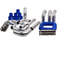 "For Universal Intercooler Turbo 2.5"" Piping pipe Kit + blue hose kits 64mm 12pcs"