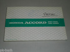 Betriebsanleitung Owner's Manual Honda Accord Stand 10/81
