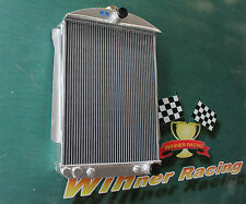 Fit chevy car street rod auto AT 1940-1941 40 41 aluminum radiator 56mm