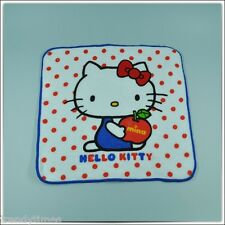 Hello Kitty Polka Dot and Apple Pattern Cotton Hand Towels - Square 25cm x 25cm