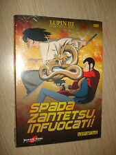 DVD LUPIN III THE 3rd SPADA ZANTETSU, INFUOCATI! FILM COLLECTION SEALED NUOVO