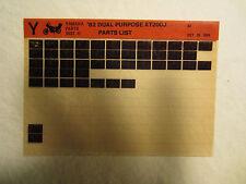1982 Yamaha Motorcycle XT 200 J Dual Purpose Microfiche Parts Catalog XT200J