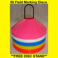 50 FIELD MARKING DISCS SOCCER BASKETBALL FOOTBALL
