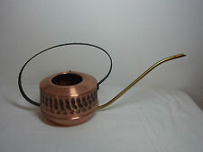 Mid Century 70´s Copper and Iron Watering Can Cactus Bonsai  #<