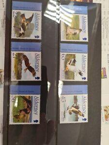 Alderney Stamps 2002 Birds set of 6 UM F15