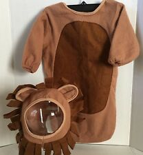 Lion Baby Bunting Halloween Costume Wizard of Oz Lion Dress Up Sz 3-6 Months